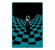 Chessboard Tarot Card Photographic Print