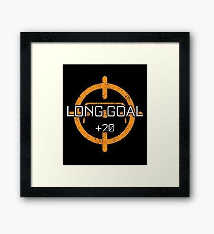 Rocket Leaugue Video Game Long Shot +20 Funny Gifts Framed Print