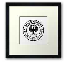 Jaeger Academy logo in black! Framed Print