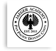 Jaeger Academy logo in black! Metal Print