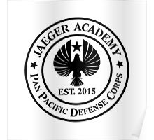 Jaeger Academy logo in black! Poster