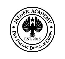Jaeger Academy logo in black! Photographic Print