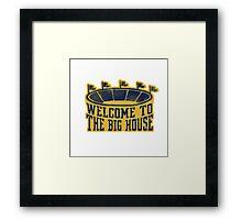 The Big House Vintage Stadium Framed Print