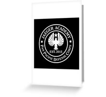 Jaeger Academy logo in white! Greeting Card