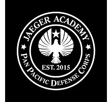 Jaeger Academy logo in white! Photographic Print