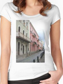 Old San Juan Women's Fitted Scoop T-Shirt