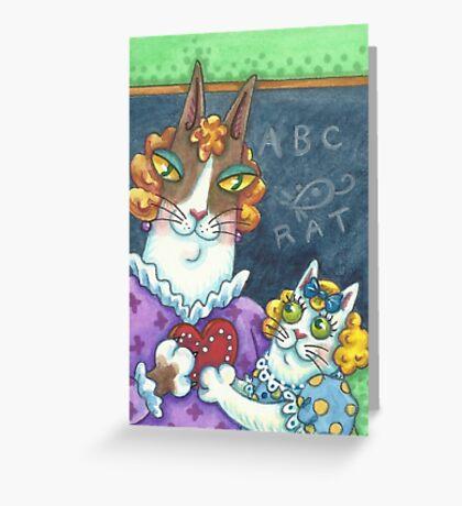 HISS N FITZ CATS - TEACHER VALENTINE Greeting Card