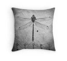Dragonfly, texture, keys Throw Pillow