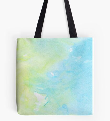 Watercolors - Pastel Blue & Yellow (Vertical) Tote Bag