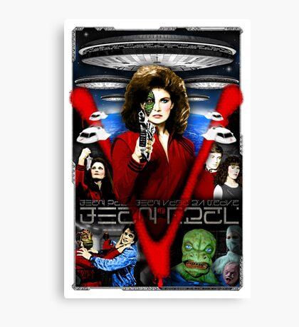 V TV Show Visitor Alien Diana  Canvas Print