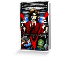 V TV Show Visitor Alien Diana  Greeting Card