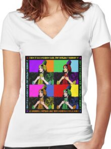 Carol Burnette Gone with the Wind  Women's Fitted V-Neck T-Shirt
