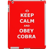 Keep Calm and Obey Cobra iPad Case/Skin