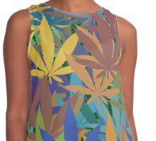 Marijuana Cannabis Weed Pot Abstract Contrast Tank