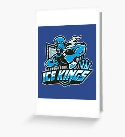 Albuquerque Ice kings Greeting Card