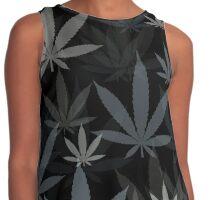 Marijuana Cannabis Weed Pot Winter Colors Contrast Tank