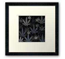 Marijuana Cannabis Weed Pot Winter Colors Framed Print
