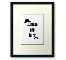 Hatman and Robin - Sherlock Framed Print