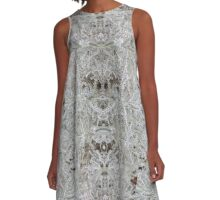 Snow Flake Plant by Amber Feng Shui Art A-Line Dress