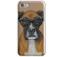 Hipster Boxer Dog iPhone Case/Skin