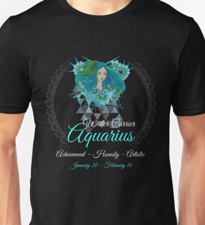 Aquarius Water Carrier Sign - Astrology Zodiac Shirts & Gear Unisex T-Shirt