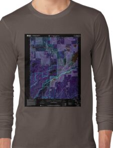 USGS TOPO Map California CA Blue Canyon 100305 2000 24000 geo Inverted Long Sleeve T-Shirt