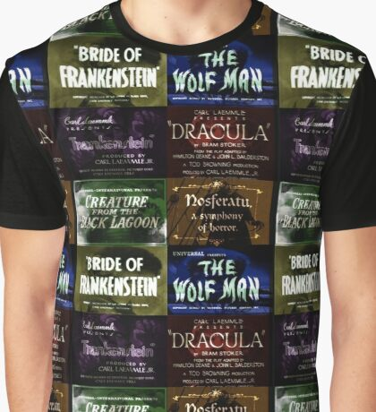 Rainbow of Monsters Graphic T-Shirt