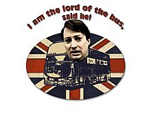 I am the Lord of the Bus, Said He! Peep Show Photographic Print