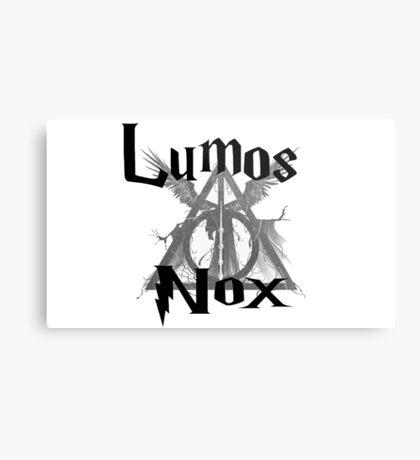 Harry Potter Lumos Nox  Metal Print