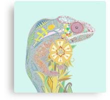 chameleon pastel Canvas Print