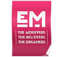 Embrace Thoughts Quoted Poster (Red/Pink) Poster