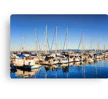Boats on the Bay  Canvas Print