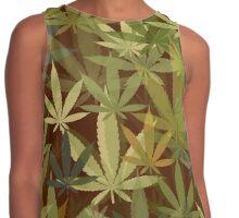 Marijuana Cannabis Weed Pot Humboldt County Camouflage Contrast Tank