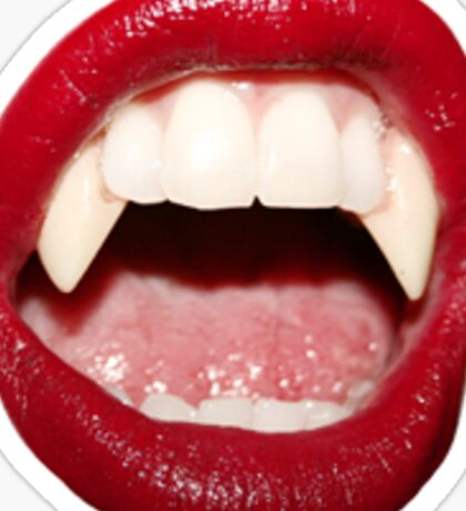 Red Vampire Lips Sticker