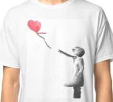 Banksy Girl With Balloon Watercolor Classic T-Shirt