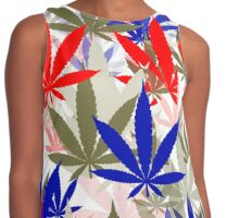Marijuana Cannabis Weed Pot Independence Day Contrast Tank