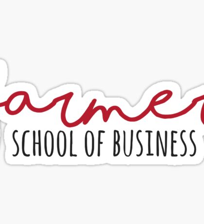 Farmer School of Business Miami University Sticker