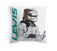 Lewis Hamilton Throw Pillow