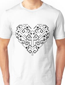 Tribal ethnic heart Unisex T-Shirt