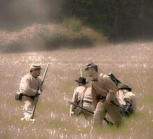 Confederate troop movement by Robert Burdick