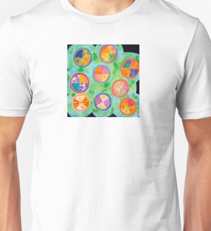 Mixed Colorful Colors in Circles  Unisex T-Shirt