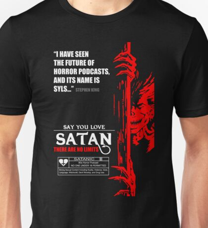 Say You Love Satan 80s Horror Podcast - Hellraiser Unisex T-Shirt