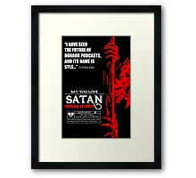 Say You Love Satan 80s Horror Podcast - Hellraiser Framed Print