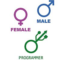 Programmer is my gender Photographic Print