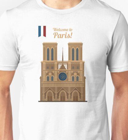 Paris Travel. Famous Place - Notre Dame Unisex T-Shirt