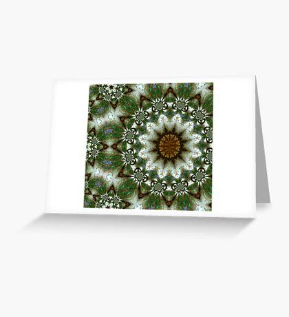 Opal Fractals Greeting Card