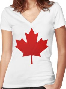 Canada is happening Women's Fitted V-Neck T-Shirt