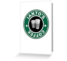 Torchwood- Ianto's Coffee Greeting Card
