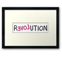 Revolution love pink grafitti  Framed Print