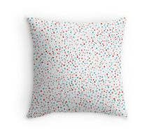 Simple confetti  background. Colorful seamless pattern.  Throw Pillow